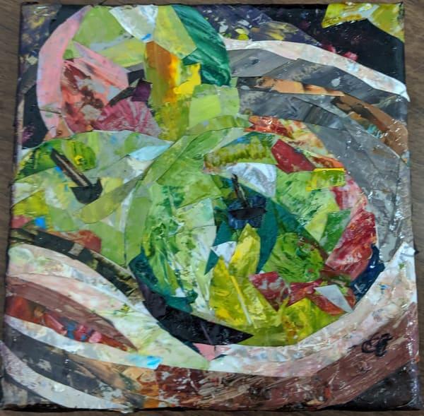 Elaine Ford - original artwork - collage - Apple Basket