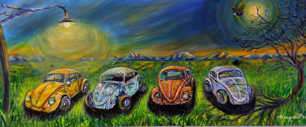 Margaret Ann Lambert - surrealism - Volkswagen - VW Beetle - Love Bug Resurrection