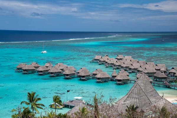 Resort In Moorea, Tahiti Photography Art   Eric Hatch