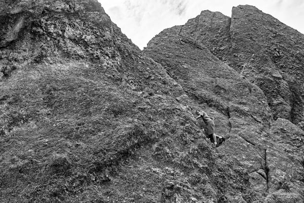 Rugged Badlands Terrain Black And White Photography Art   Eric Hatch