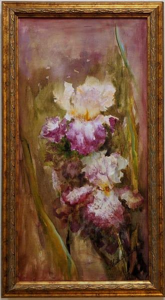 Sheila Sell - original artwork - flowers - irises - Heirloom Irises