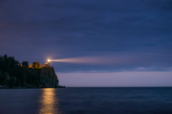 A Light In The Night, Split Rock Lighthouse, Lake Superior Photography Art | John Gregor Photography