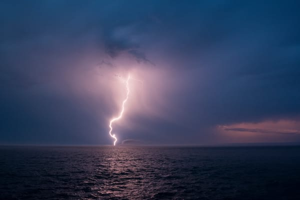 Lighting Strike, Lake Superior Photography Art | John Gregor Photography