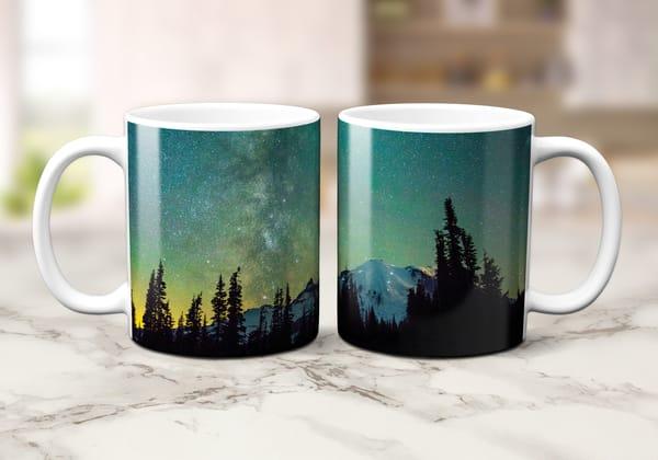 Rainier Green Glow 11oz Mug | Call of the Mountains Photography