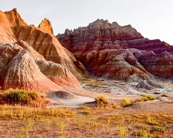 Badlands Erosion At Sunset Photography Art | Eric Hatch