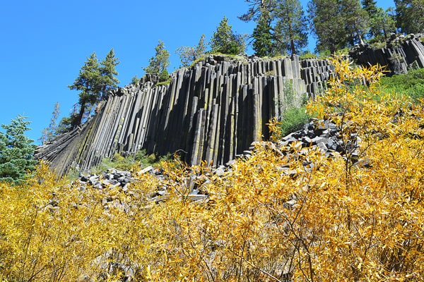 Devils Postpile Photograph – Rock Formation in Mammoth Mountain in California Photography - Fine Art Prints on Canvas, Paper, Metal & More