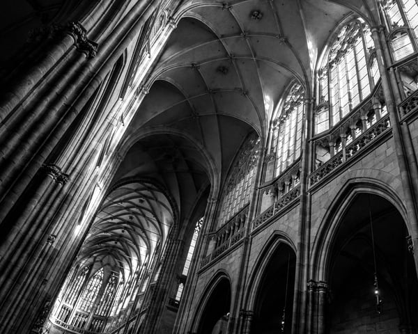 Architecture of the Past - Oblouky - bw - Art print - Tamea Photography