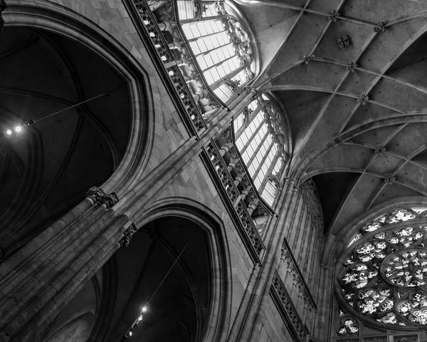 Light in the Cathedral in Black and White - Art print - Tamea Photography