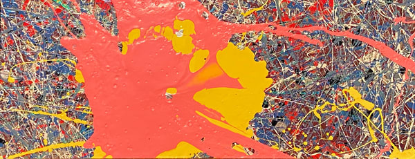 Bull's Eye Pink Left.: Print Art | Anonymous Art Studios