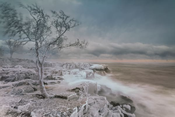 Freezing Spray, Lighthouse Point Two Harbors Photography Art | John Gregor Photography