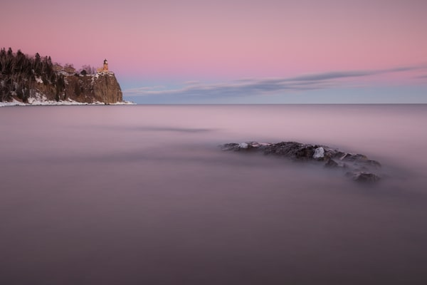 Split Rock Pink Sunset Photography Art | John Gregor Photography