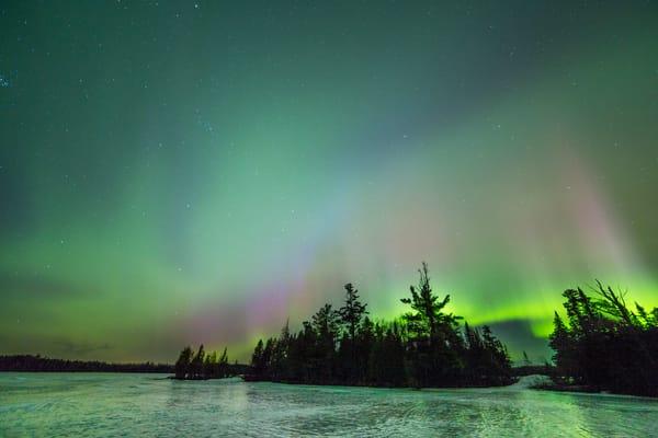 Irish Green Aurora, Stewart Lake  Photography Art | John Gregor Photography