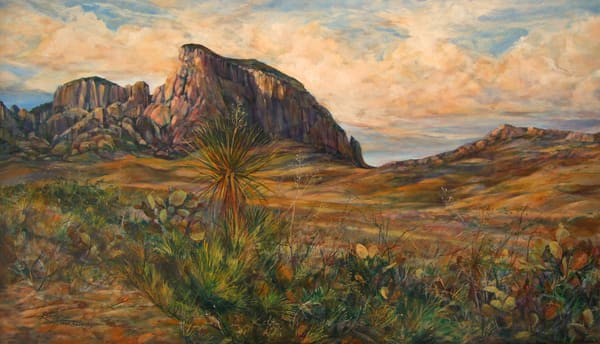 Lindy Cook Severns Art | Approach to the Chisos, print