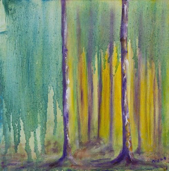 purple trees of wonder oil painting