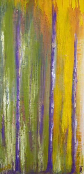 purple trees courage oil painting