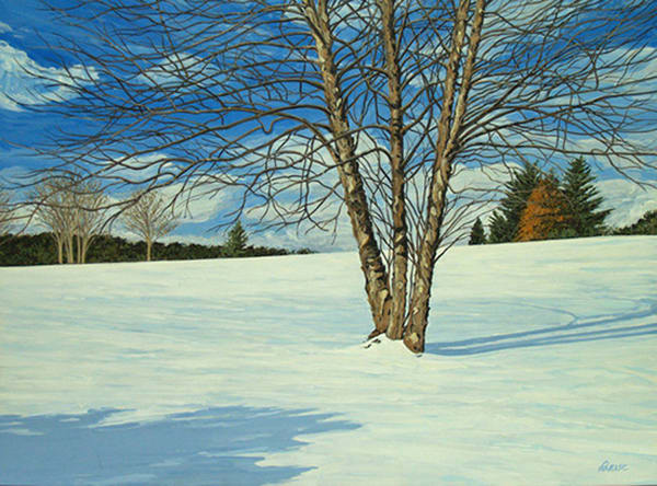 A Winters Day     Acrylic On Linen Art | Patrick M. Parise
