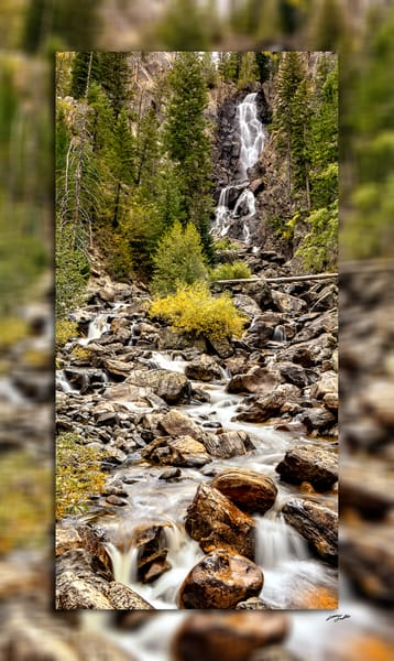 Fish Creek Falls 3 D Photography Art | Whispering Impressions