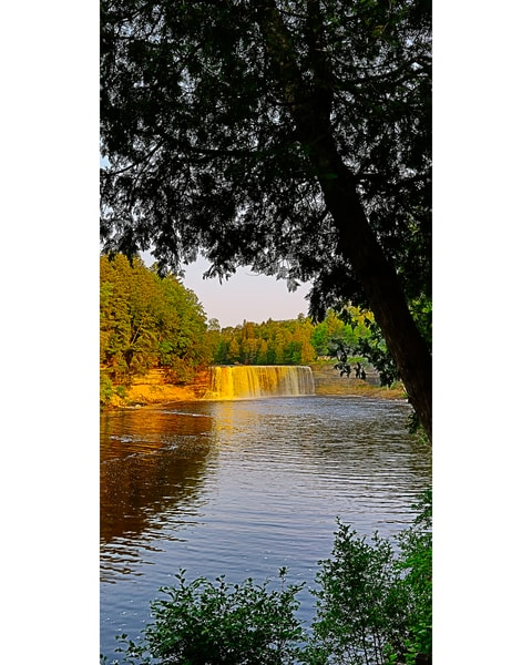 Tahquamenon Falls V Pano Photography Art | Whispering Impressions