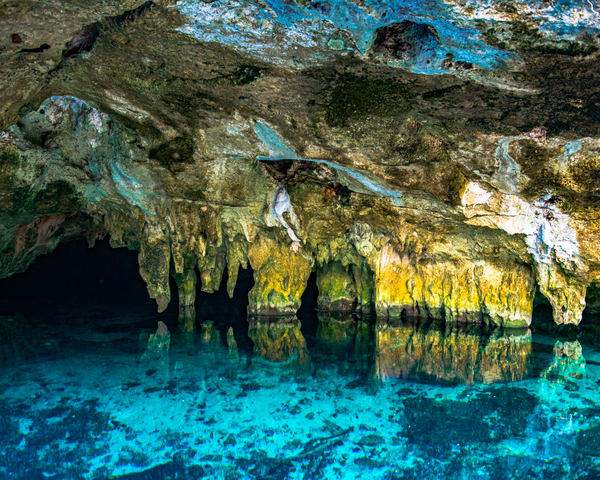 Aqua in the Cenote - Art Print - Tamea Photography