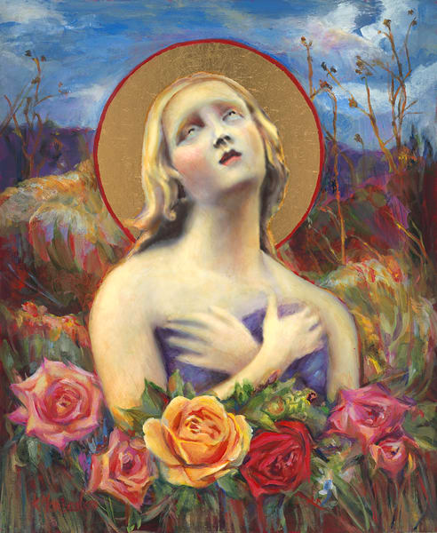 Santa Fe Angel of Hope original painting by Kathy Maniscalco in Santa Fe, NM