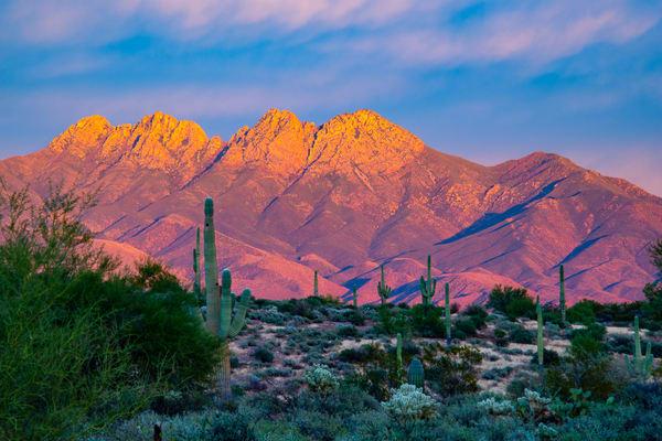 Four Peaks Sunrise Photography Art | Whispering Impressions