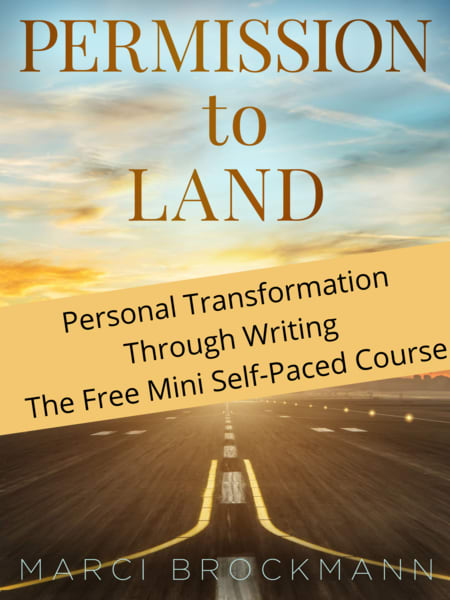 Permission To Land: Personal Transformation Through Writing Free Mini Self Paced Course | Marci Brockmann Art, Decor & Accessories
