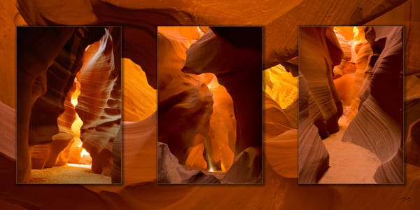 Antelope Canyon 3 Pc 3 D Photography Art | Whispering Impressions