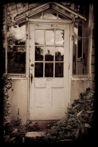 Greenhouse Door Photography Art | David Frank Photography