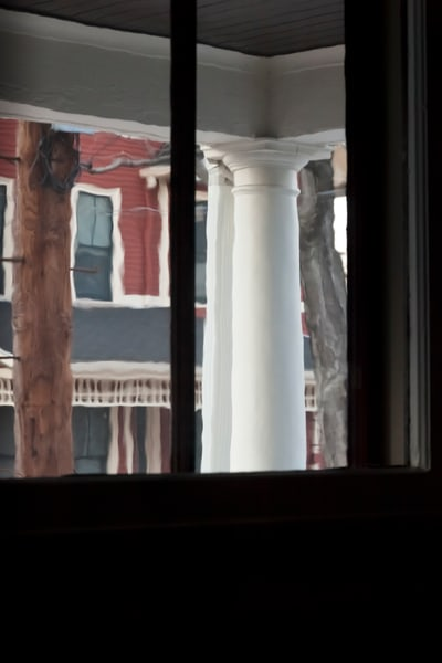 White Column   Red House Photography Art | David Frank Photography