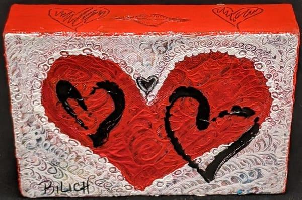 Trish Bilich - red hearts - Valentine's Day - Happy Hearts