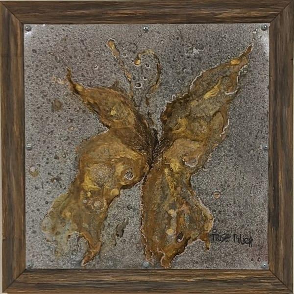 Trish Bilich - original artwork - Butterfly on Metal