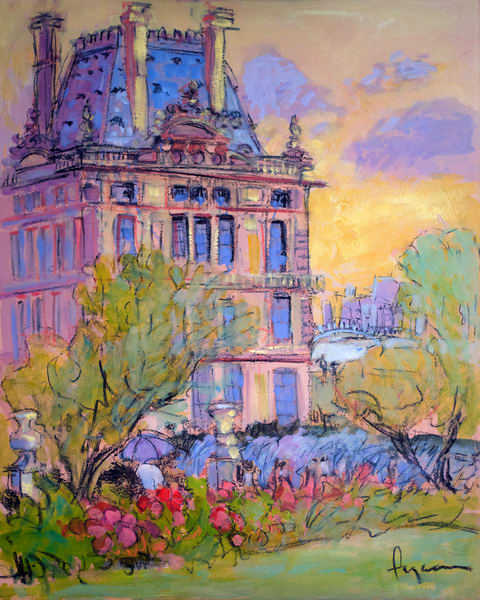 Tuileries Garden Paris Painting Fine Art Print by Dorothy Fagan