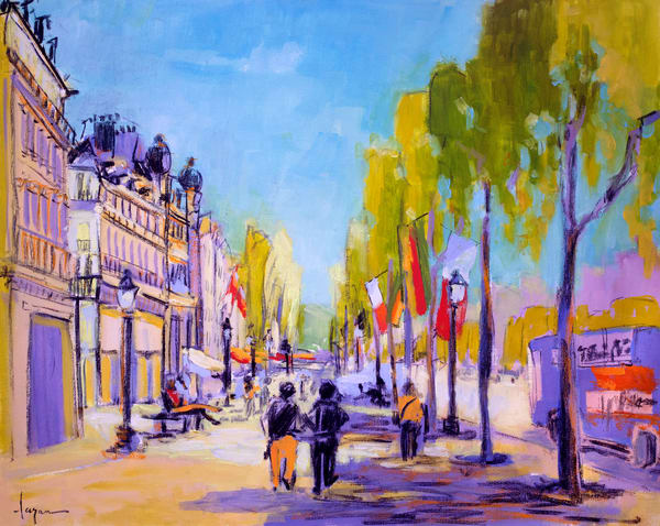 Champs Elysees Painting by Dorothy Fagan
