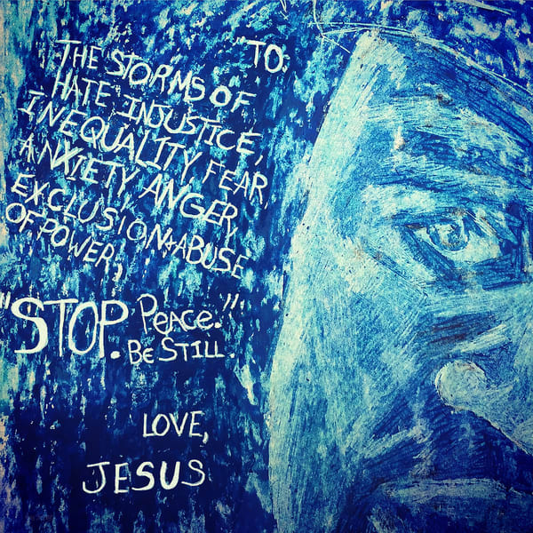 George Floyd Stop Peace Be Still  Fine Art Print Art   Marie Stephens Art