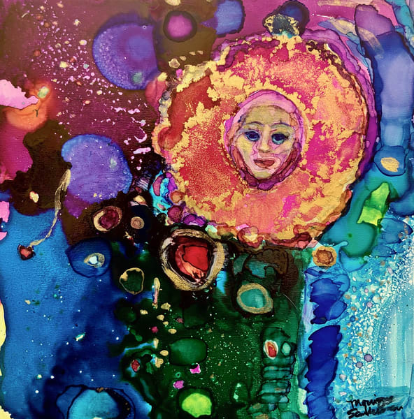 """Gorgeous prophetic art """"Revival Fire Morning Glory"""" this is based on a heavenly vision by Monique Sarkessian."""
