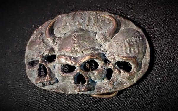 Viking Skulls Belt Buckle