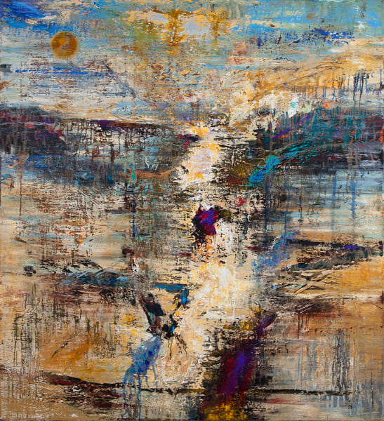 """Cannot Step into the Same River Twice, 66x60"""""""