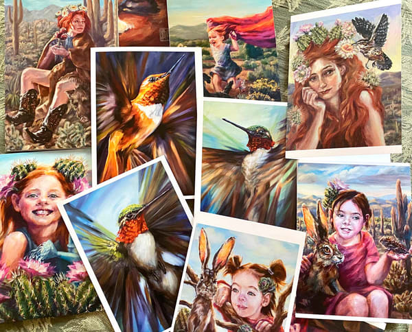 Set Of 5 Greeting Cards | Ans Taylor Art