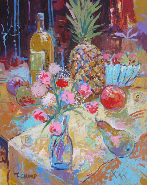 Still Life With Pineapple Art   terrycrump