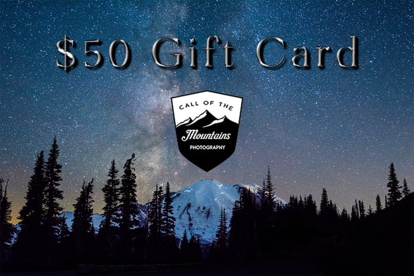 $50 Gift Card | Call of the Mountains Photography