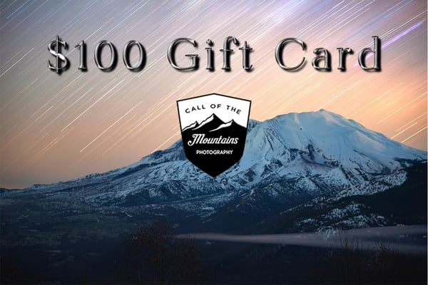 $100 Gift Card | Call of the Mountains Photography