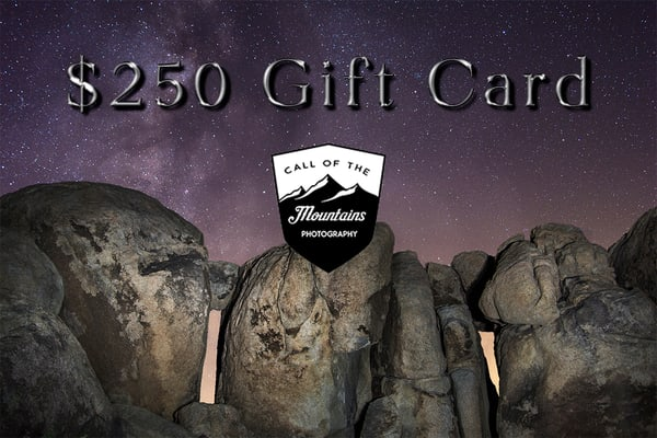$250 Gift Card | Call of the Mountains Photography