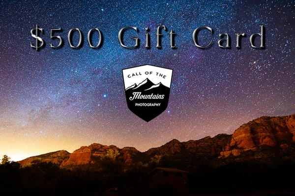 $500 Gift Card | Call of the Mountains Photography