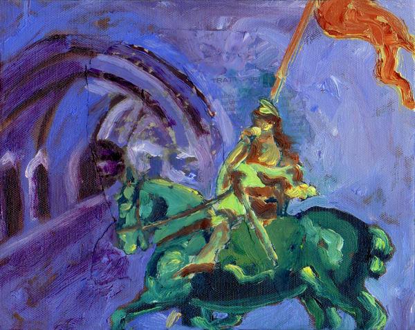 Joanof Arc Green Art | Joan Cox Art