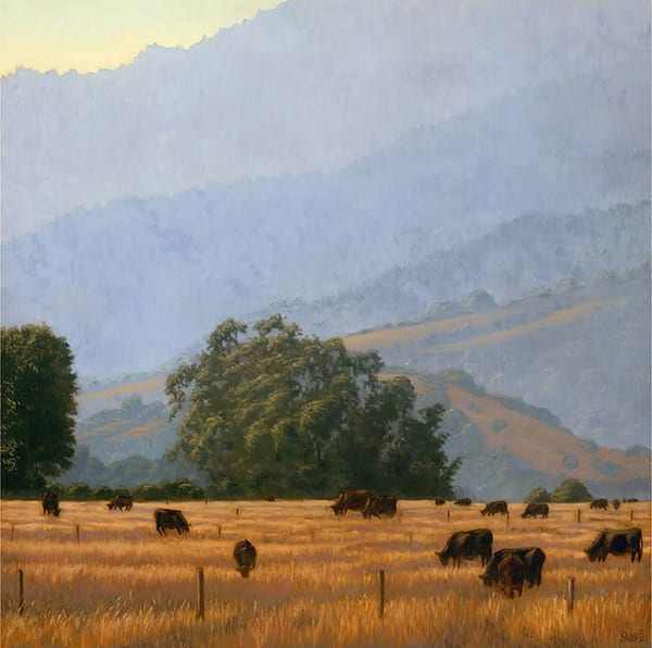 West Marin County, Northern California landscape painting in oil