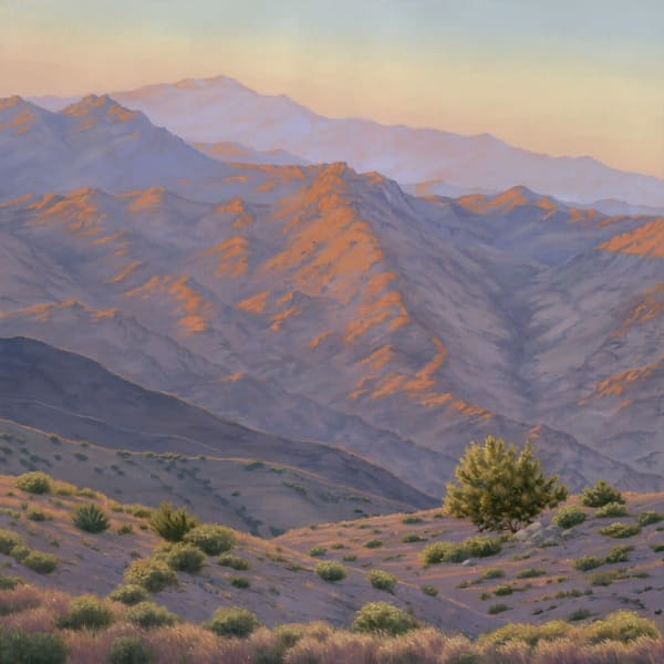 Desert Mountain View (Available As Print Or Commission) Art | Terry Sauve Fine Art