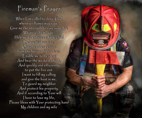 Fireman S Prayer Art | DanSun Photo Art