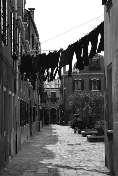 Clothesline in Italy Photograph – Venice Photography - Fine Art Prints on Canvas, Paper, Metal & More