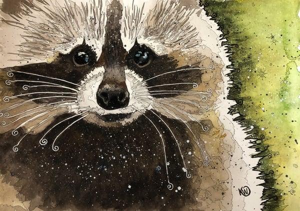 Trash Panda   Limited Edition Art | Water+Ink Studios