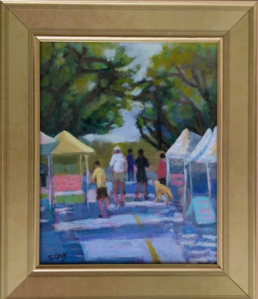 Morning At The Market   Framed Original Oil Art | Sharon Guy